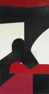 Daniel Prieto, Oil on canvas, Untitled, 100 x 190 cm, 2021