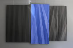 Blue on black triptichon